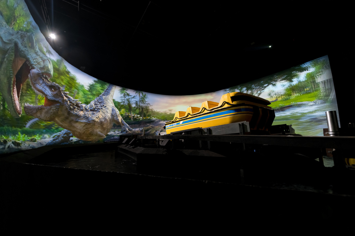 Inside Immersive Superflume Tunnel